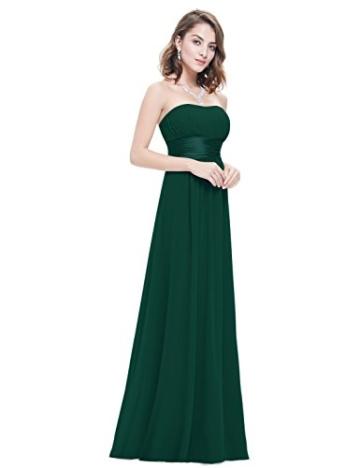 Ever Pretty Damen Empire Taille Schulterfrei Lange Abendkleider Brautjungfernkleid 36 Größe Dunkelgrün - 4