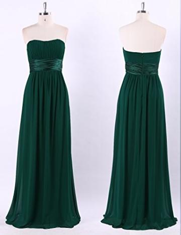 Ever Pretty Damen Empire Taille Schulterfrei Lange Abendkleider Brautjungfernkleid 36 Größe Dunkelgrün - 5