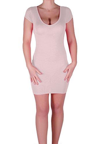 Eyecatch - Annalise Frauen V-Ausschnitt, Flugelarmeln, figurbetontes Stretch Kurz Damen Minikleid - 4