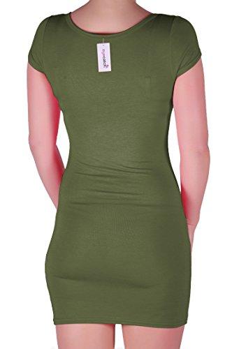EyeCatch - Annalise Frauen V-Ausschnitt, Flugelarmeln, Figurbetontes Stretch Kurz Damen Minikleid - 6
