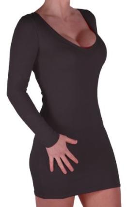 Eyecatch - Rachel Damen Mit V-Ausschnitt, Figurbetontes Stretch Short Frauen Minikleid Schwarz Gr. S/M - 1