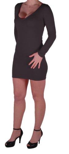 Eyecatch - Rachel Damen Mit V-Ausschnitt, Figurbetontes Stretch Short Frauen Minikleid Schwarz Gr. S/M - 5