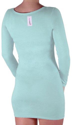 Eyecatch - Rachel Damen Mit V-Ausschnitt, Figurbetontes Stretch Short Frauen Minikleid Mint Grun Gr. S/M - 6