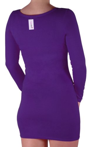 Eyecatch - Rachel Damen Mit V-Ausschnitt, Figurbetontes Stretch Short Frauen Minikleid Purple Gr. M/L - 6