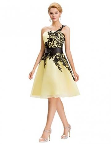 Fashion Lace 1-Schulter Abendkleid Festliches kleid Sommerkleid Gelb 46 -