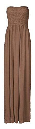 Fast Fashion Damen Maxi Kleid Plus Größe Plain Umführungsvorrichtung Bandeau - 1