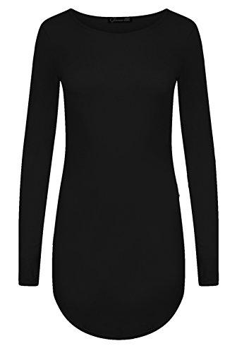 Fast Fashion Frauen Bodycon Klar Langen Ärmeln Abgerundetem Saum Minikleid - 1