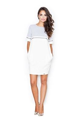 Figl Geschmackvolles Kleid mit etwas sportlichem Pfiff, Größe 40, Ecru-Grau - 1