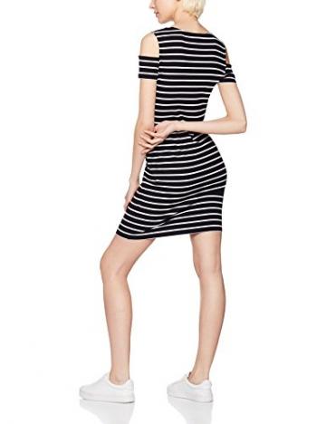 FIND Damen Kleid Cold Shoulder Stripe, Mehrfarbig (Black/White), XX-Large -