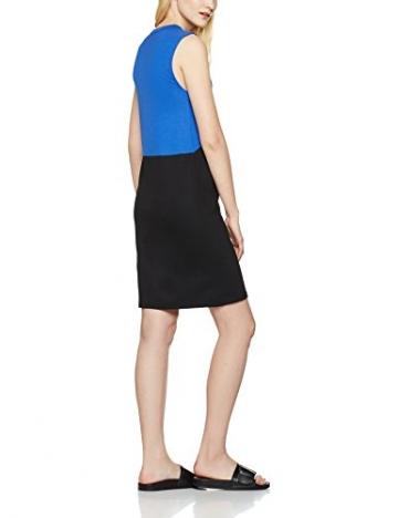 FIND Damen Kleid Colour Block Tunic, Blau (Black/Dazzling Blue), X-Large -