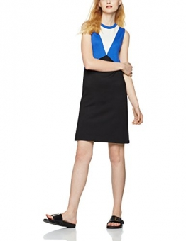 FIND Damen Kleid Colour Block Tunic, Blau (Black/Dazzling Blue), X-Large -