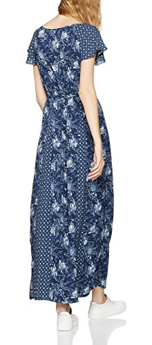 FIND Damen Kleid  Floral Maxi, Blau (Blue), 12 (Herstellergröße: Medium) -
