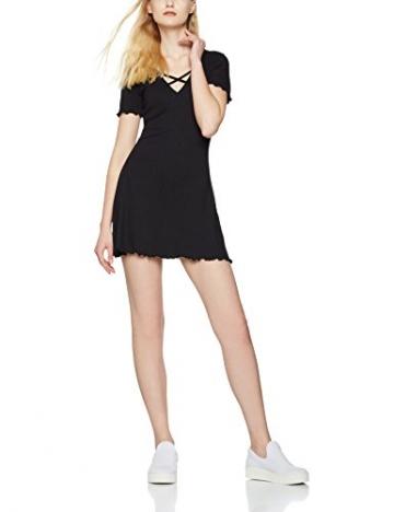 FIND Damen Kleid V Neck Jersey, Schwarz (Black), XX-Large -