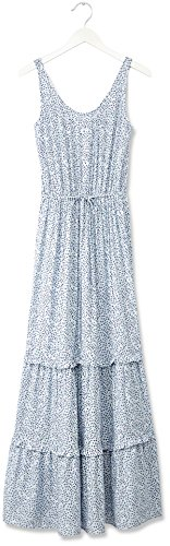 FIND Damen Maxikleid mit Blumenmuster , Blau (Blue), X-Large -