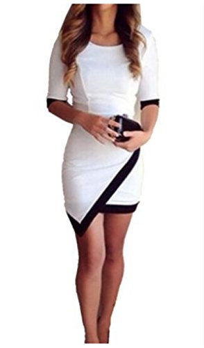 Finejo Damen Hot Sexy Cocktailkleid Abendkleid Schlank Partykleid Bodycon Sexy Kleid Clubwear -