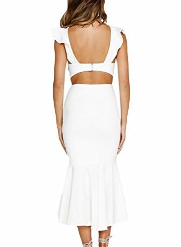 FIYOTE Damen Abendkleider Rückenfreies Elegant Cocktailkleid Maxikleider Partykleider 3 Farbe S/M/L/XL - 2