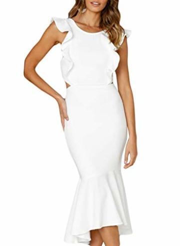FIYOTE Damen Abendkleider Rückenfreies Elegant Cocktailkleid Maxikleider Partykleider 3 Farbe S/M/L/XL - 1