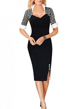Fordestiny Knielang Etuikleid Business Kleid Elegantes Abendkleid -