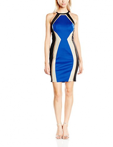 Forever Unique Damen CocktailKleid Gr. 34, Schwarz - Black (Black/Blue) - 1