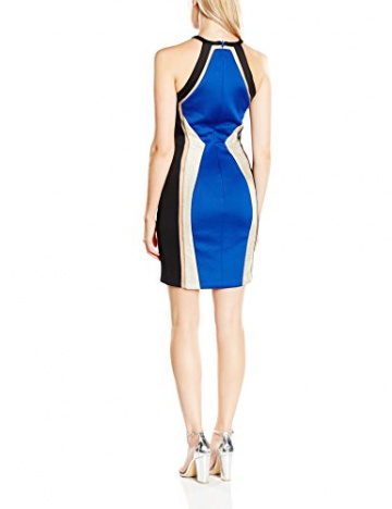 Forever Unique Damen CocktailKleid Gr. 34, Schwarz - Black (Black/Blue) - 2