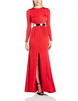 Forever Unique Damen Dekolletiert Kleid, Einfarbig Gr. 38, rot - 1