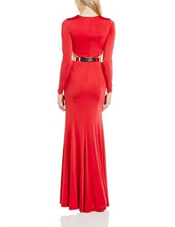 Forever Unique Damen Dekolletiert Kleid, Einfarbig Gr. 38, rot - 2