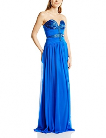 Forever Unique Damen Kleid cecelia embellished strapless maxi, Maxi, Gr. 38 (Herstellergröße:Size 12), Blau - 1