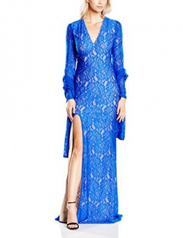 Forever Unique Damen Kleid Gr. 34, Blau - Sax Blue - 1