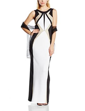 Forever Unique Damen Kleid Gr. 34, Mehrfarbig - Multicoloured (Black/Ivory/Gold) - 1