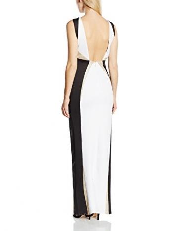 Forever Unique Damen Kleid Gr. 34, Mehrfarbig - Multicoloured (Black/Ivory/Gold) - 4