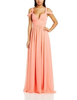 Forever Unique Damen Kleid greta chiffon maxi prom dress, Maxi, Gr. 36 (Herstellergröße:Size 10), Rosa (Peach) - 1