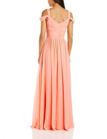 Forever Unique Damen Kleid greta chiffon maxi prom dress, Maxi, Gr. 36 (Herstellergröße:Size 10), Rosa (Peach) - 2