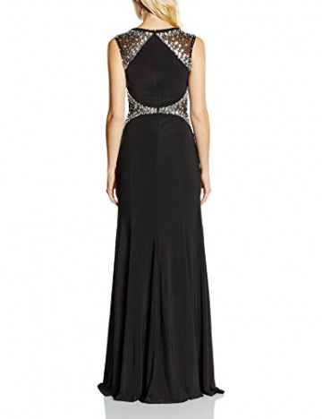 Forever Unique Damen, Kleid, Rosetta, Schwarz (Black), 34 - 2