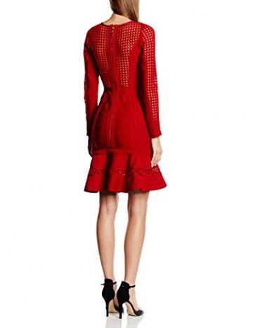 Forever Unique Damen, Schlauch, Kleid, Silvia, GR. 34 (Herstellergröße: Size 8), Rot (red) - 2