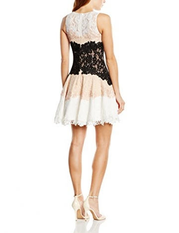 Forever Unique Damen Skater Kleid Gr. 38, Mehrfarbig - Multicoloured (Nude/Black/Ivory) -