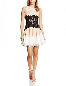 Forever Unique Damen Skater Kleid Gr. 38, Mehrfarbig - Multicoloured (Nude/Black/Ivory) -