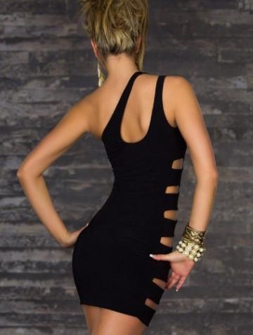 Frauen-reizvolle Schulter ärmelSeitenLoch Clubwear -Cocktailkleid Kleid -