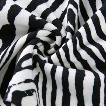 Frauen Schlangenleder Print Zebra Animal Print Club Kleid Rollkragen Sexy Bodycon Party Minikleid (S, B) - 8