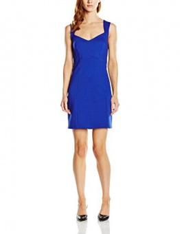 French Connection Damen Dekolletiertes Kleid LULA STRETCH S/LSS FITTED DRS, Knielang, Einfarbig, Gr. 38 (Herstellergröße: 12), Blau (PRINCE ROCKS 40) - 1