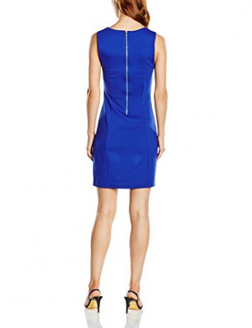 French Connection Damen Dekolletiertes Kleid LULA STRETCH S/LSS FITTED DRS, Knielang, Einfarbig, Gr. 38 (Herstellergröße: 12), Blau (PRINCE ROCKS 40) - 2