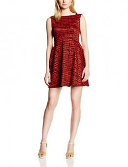 French Connection Damen Kleid CANYON SANDS COTTON S/LS FLRD, Mini, Mehrfarbig, Gr. 38 (Herstellergröße: 12), Mehrfarbig (MASAI RED MULTI 61) -