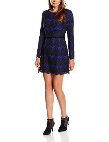 French Connection Damen Kleid LINEA LACE LS FLARED DRESS, Midi, Mehrfarbig, Gr. 38 (Herstellergröße: 12), Mehrfarbig (PRINCEROCKS/BLACK 50) - 1