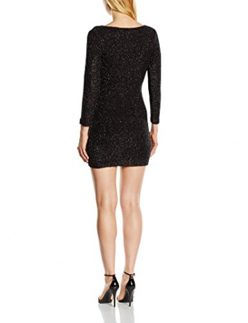 French Connection Damen Wickel Kleid SPARKLE NIGHTS LS VNK DRESS, Midi, Gr. 32 (Herstellergröße: 6), Schwarz (BLACK 1) - 2