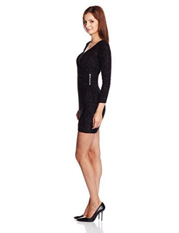 French Connection Damen Wickel Kleid SPARKLE NIGHTS LS VNK DRESS, Midi, Gr. 32 (Herstellergröße: 6), Schwarz (BLACK 1) - 3
