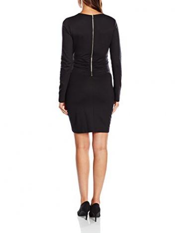 French Connection Damen Wickel Kleid VALENTINE VISCOSE ROUCHD DRESS, Midi, Einfarbig, Gr. 40 (Herstellergröße: 14), Schwarz (BLACK 1) - 2