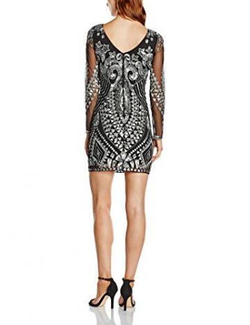 Frock and Frill Damen, Kleid, All Over Embellished Shift with Long Sleeve, GR. 36 (Herstellergröße: Size 10), Schwarz (black) - 2