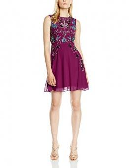 Frock and Frill Damen, Kleid, Esmerelda Sequin Skater, GR. 36 (Herstellergröße: Size 10), Rot (berry) - 1