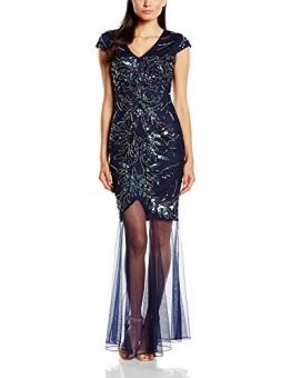 Frock and Frill Damen Kleid Odalis Sequin Maxi, Gr. 40, Blau - Blau (Marineblau) - 1