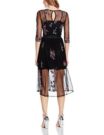 Frock and Frill Damen Kleid Raines Embellished Skater with Sleeves, Gr. 36, Schwarz (Schwarz) - 2