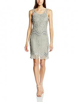 Frock and Frill Damen, Kleid, Ziegfeld Sequin Flapper, GR. 36 (Herstellergröße: Size 10), Grau (grey) - 1
